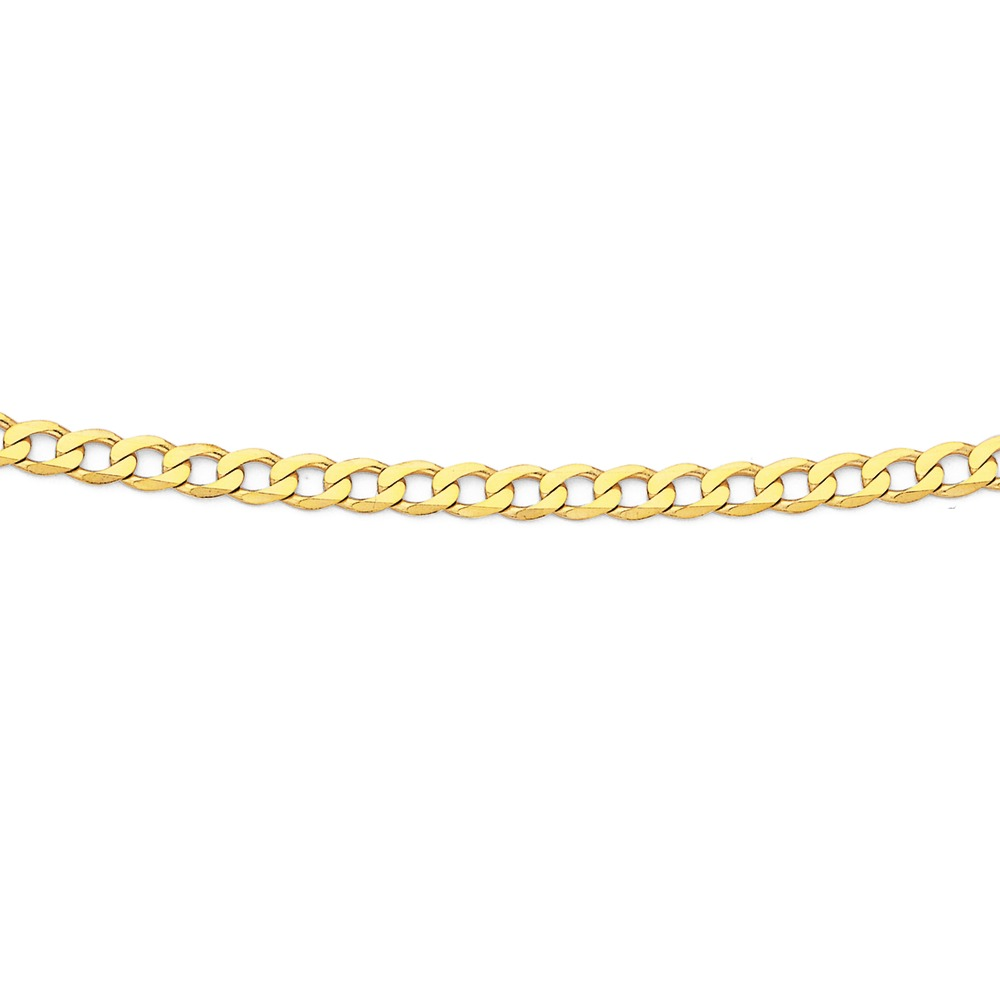 Solid 9ct, 55cm Curb Chain