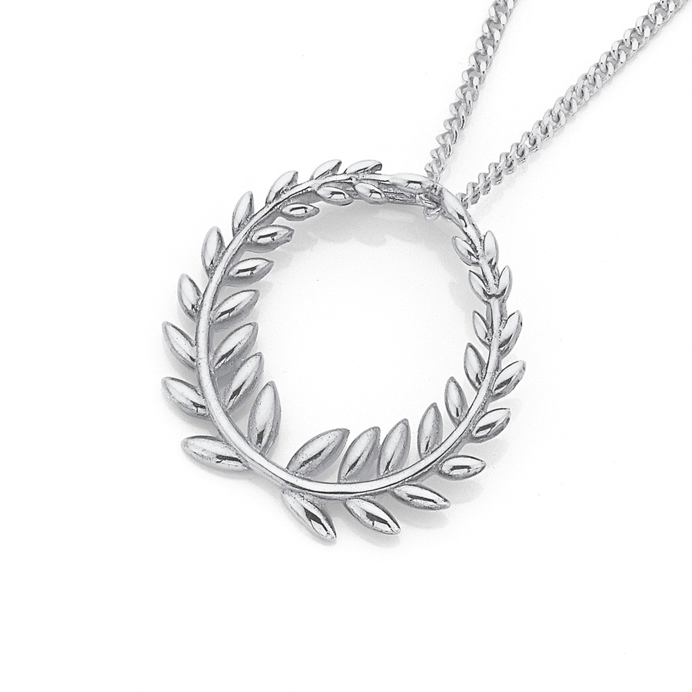Sterling Silver Olive Wreath Pendant
