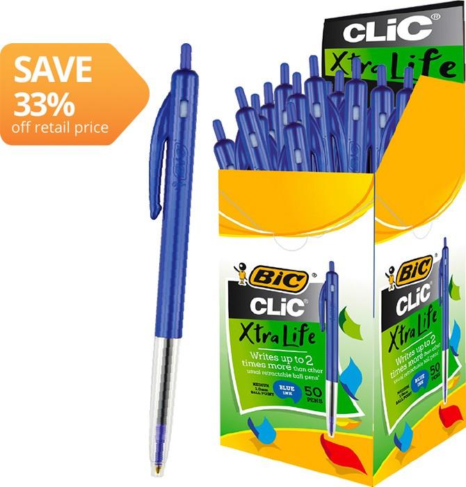 BIC Clic Ballpoint Pens