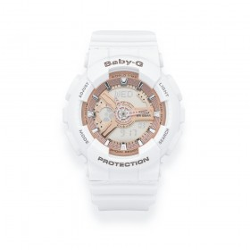 White-and-Rose-Gold-Casio-Baby-G-Watch on sale