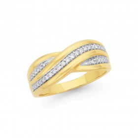 9ct-Diamond-Crossover-Ring on sale