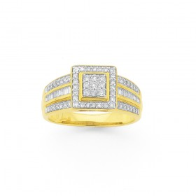 9ct-Diamond-Fancy-Dress-Ring on sale