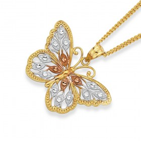 9ct-Filigree-Butterfly-Pendant on sale