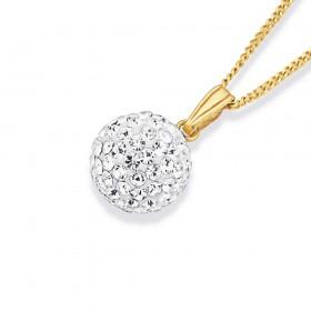 9ct-Crystal-10mm-Ball-Pendant on sale