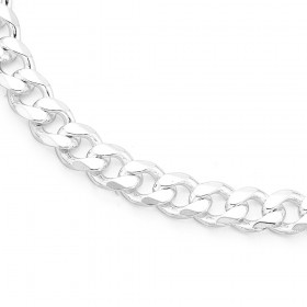 Silver-55cm-Bevelled-Diamond-Cut-Curb-Chain on sale