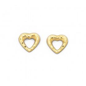 9ct-Heart-Stud-Earrings on sale