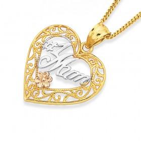 9ct-1-Mum-Heart-Pendant on sale