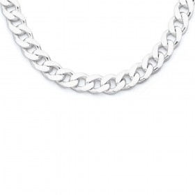 55cm-Curb-Chain-in-Sterling-Silver on sale