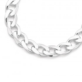Sterling-Silver-50cm-Bevelled-Curb-Chain on sale