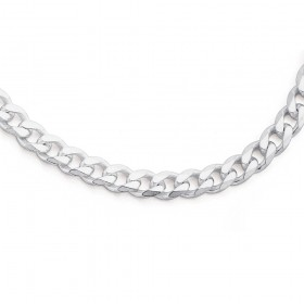 50cm-Curb-Chain-in-Sterling-Silver on sale