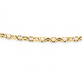 9ct-45cm-Oval-Belcher-Chain on sale