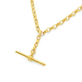9ct-45cm-Oval-Belcher-Chain-with-T-Bar on sale