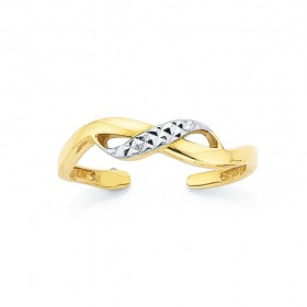 9ct-Crossover-Toe-Ring on sale