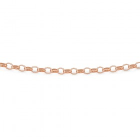9ct-Rose-Gold-45cm-Oval-Hollow-Belcher-Chain on sale
