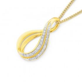 9ct-Diamond-Twist-Pendant on sale