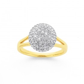 9ct-Diamond-Round-Cluster-Ring on sale