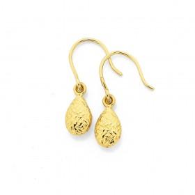 9ct-Pear-Drop-Earrings on sale