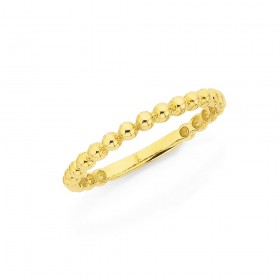 9ct-2mm-Bubble-Stacker-Ring on sale