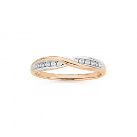 9ct-Rose-Gold-Diamond-Ring on sale