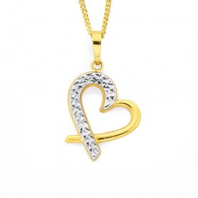 9ct-Two-Tone-Heart-Pendant on sale