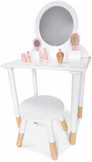 Wooden-Vanity-with-Stool-and-Accessories on sale