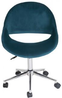 Kip-Swivel-Desk-Chair-Peacock-Velvet on sale