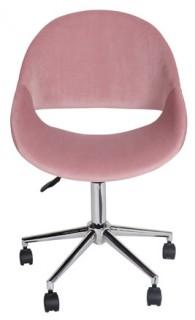 Kip-Swivel-Desk-Chair-Rose-Velvet on sale