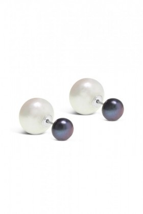 By-Fairfax-Roberts-Real-Pearl-Modern-Twist-Duo-Stud-Earrings on sale