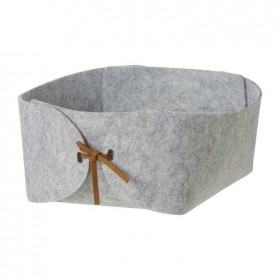 30-off-Living-Space-Leather-String-Felt-Basket-Small on sale