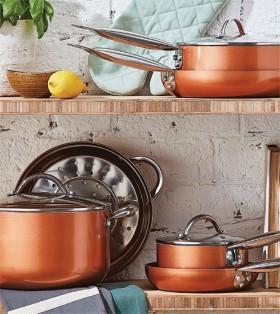 Hampton-Mason-Copper-Colour-6-Piece-Cookware-Set on sale