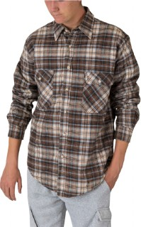 Mens-Quilted-Flannel-Shirt on sale