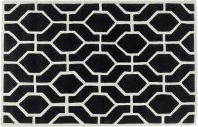 Geo-Dreamtime-Black-White-Hand-Tufted-High-Low-Cut-Rug-150-x-240cm on sale