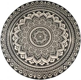 Mandala-Black-White-Cotton-Rug-150cm on sale