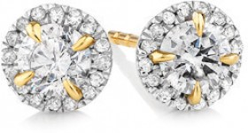 NEW-Stud-Earrings-with-0.50-Carat-TW-of-Diamonds-in-10ct-Yellow-Gold on sale