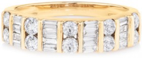 NEW-Ring-with-1-Carat-TW-of-Diamonds-in-10ct-Yellow-Gold on sale