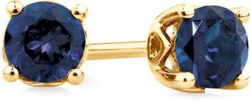 4mm-Stud-Earrings-with-Created-Sapphire-in-10ct-Yellow-Gold on sale