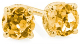 4mm-Stud-Earrings-with-Natural-Citrine-in-10ct-Yellow-Gold on sale
