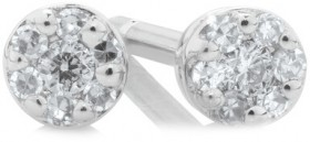 Stud-Earrings-with-0.05-Carat-TW-of-Diamonds-in-10ct-White-Gold on sale
