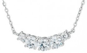 NEW-Necklace-with-Cubic-Zirconia-in-Sterling-Silver on sale