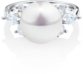 NEW-Ring-with-Cultured-Freshwater-Pearl-Cubic-Zirconia-in-Sterling-Silver on sale