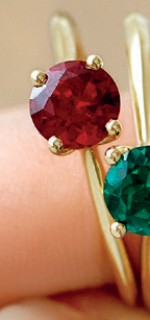 NEW-Ring-with-Created-Ruby-in-10ct-Yellow-Gold on sale