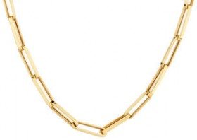 NEW-Paperclip-Chain-in-10ct-Yellow-Gold on sale