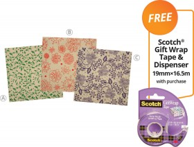 Kraft-Wrapping-Paper-FREE-SCOTCH-GIFT-WRAP-TAPE-DISPENSER-19MM16.5M-WITH-PURCHASE on sale
