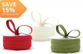NEW-Cotton-Twill-Woven-Edge-Ribbon on sale