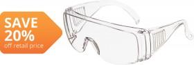 Esko-Overspecs-Safety-Glasses-Anti-Fog-Anti-Scratch-Clear on sale