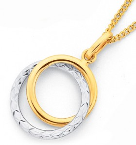 9ct-Two-Tone-Circle-Pendant on sale