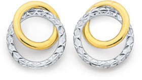 9ct-Two-Tone-Circle-Studs on sale