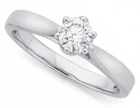 18ct-White-Gold-Round-Brilliant-Solitaire-Ring on sale