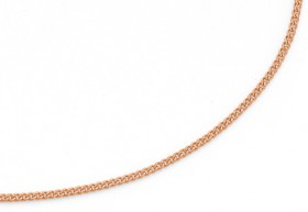 9ct-Rose-Gold-45cm-Curb-Chain on sale