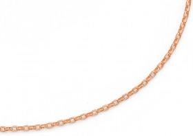9ct-Rose-Gold-50cm-Solid-Oval-Belcher-Chain on sale